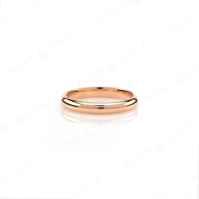 Wedding band in rose gold