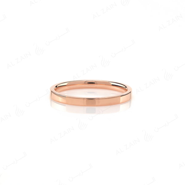 Wedding band in rose gold - Al Zain Jewellery