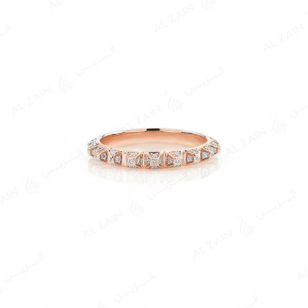 Hab El Hayl 2nd Edition Ring in Rose Gold with Diamonds - Al Zain Jewellery