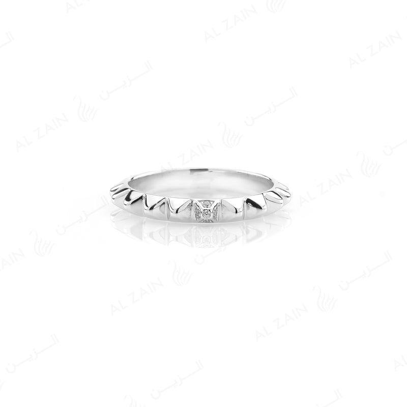 Hab El Hayl 2nd Edition Ring in White Gold with Diamonds - Al Zain Jewellery