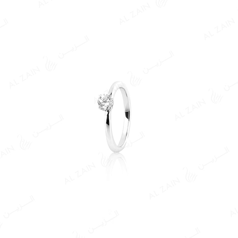 18k Solitaire Engagement Ring in White Gold - Al Zain Jewellery