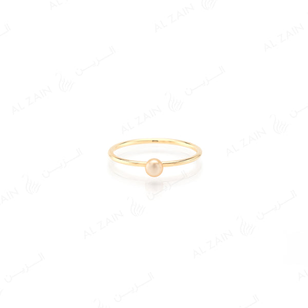 Mystique ring collection with natural pearl in yellow gold
