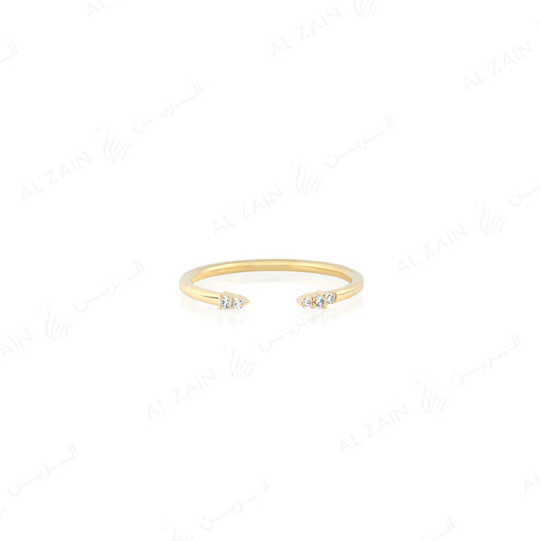 Melati Ring in Yellow Gold with Diamonds