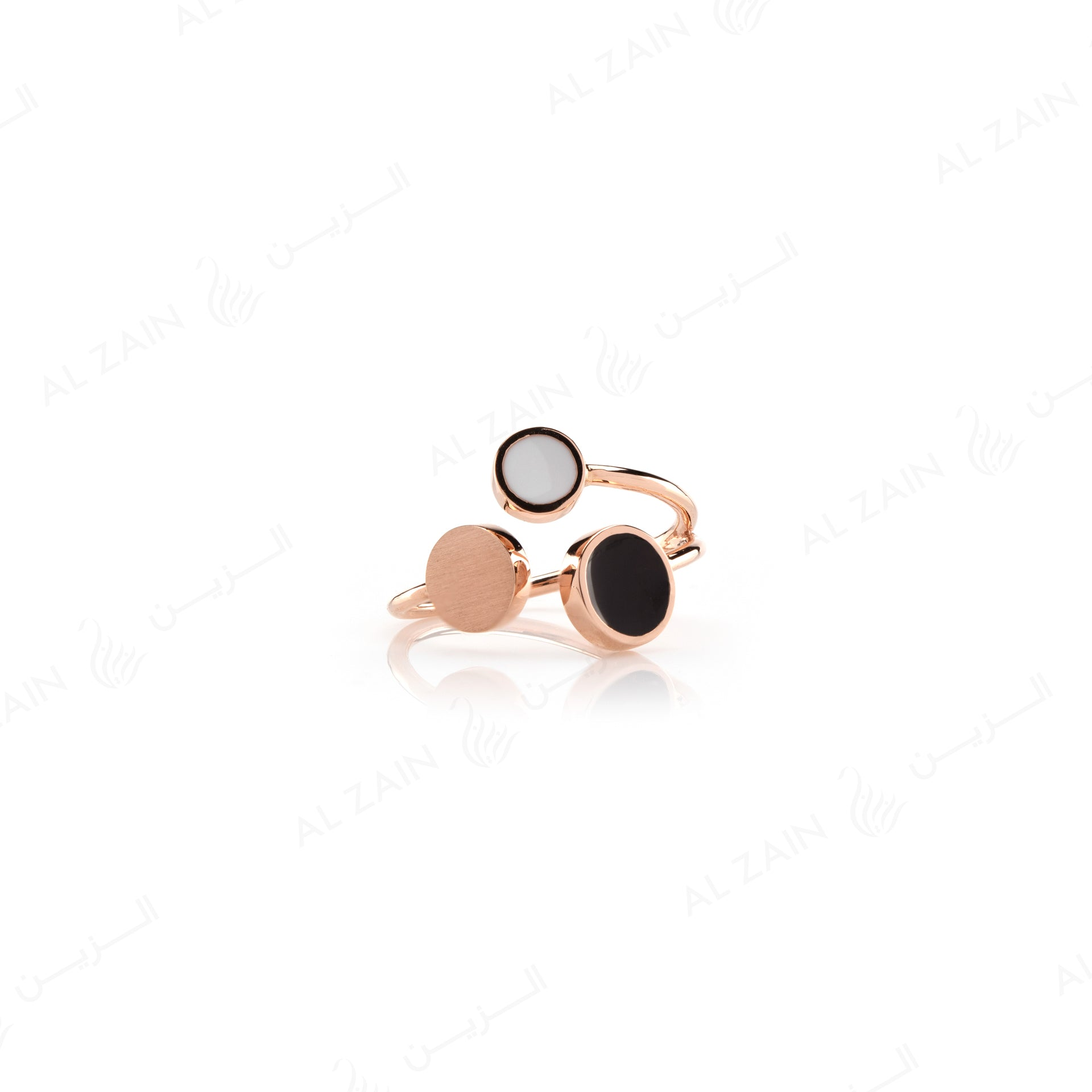 Rose Gold Dusk till Dawn Ring with Enamel - Al Zain Jewellery
