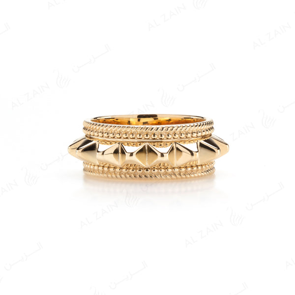 Hab El Hayl Ring in Yellow Gold - Al Zain Jewellery
