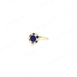 Cordoba ring in yellow gold with lapis stone