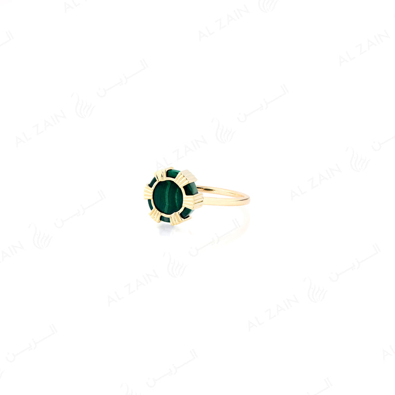 Cordoba ring in yellow gold with malachite stone - Al Zain Jewellery