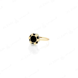 Cordoba ring in yellow gold with onyx stone - Al Zain Jewellery