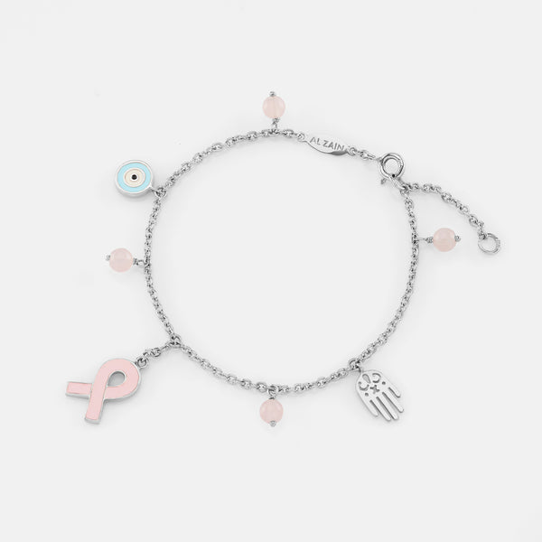 Breast Cancer Awareness Bracelet - Al Zain Jewellery