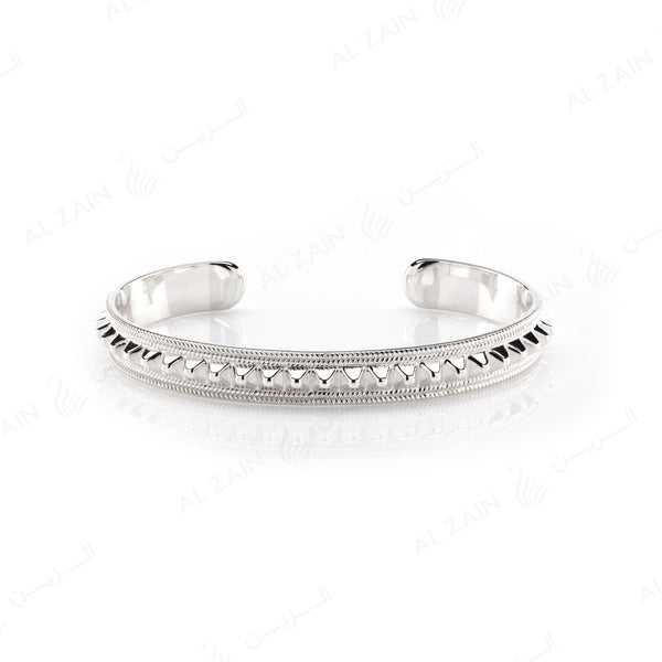 Hab El Hayl Bangle in Silver - Al Zain Jewellery