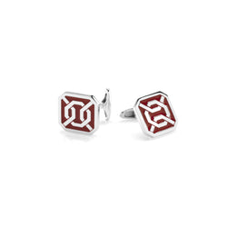 Cordoba Men's Cufflinks in Silver with Enamel - Al Zain Jewellery