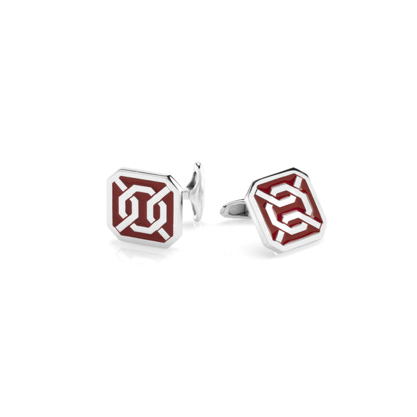 Cordoba Cufflinks in Silver with Enamel