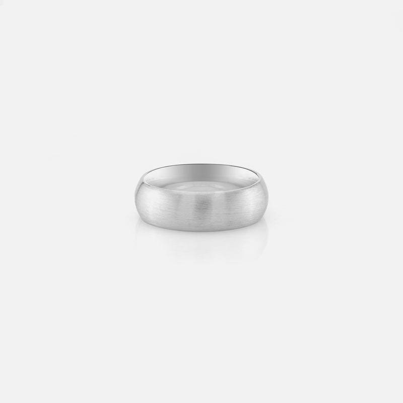 Men's silver ring in matte finish style - Al Zain Jewellery