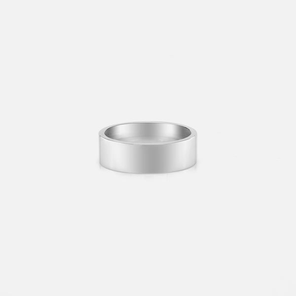 Men's silver ring in polished finish style - Al Zain Jewellery