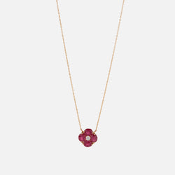 Precious Petals Necklace in 18k Yellow Gold - Al Zain Jewellery