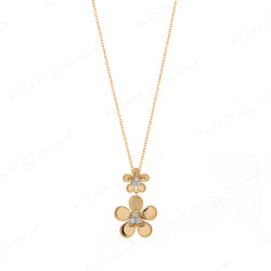Blomme Necklace  in Yellow Gold with Diamonds