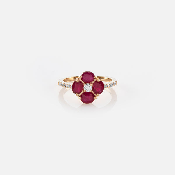 Precious Petals Ring in 18k Yellow Gold - Al Zain Jewellery