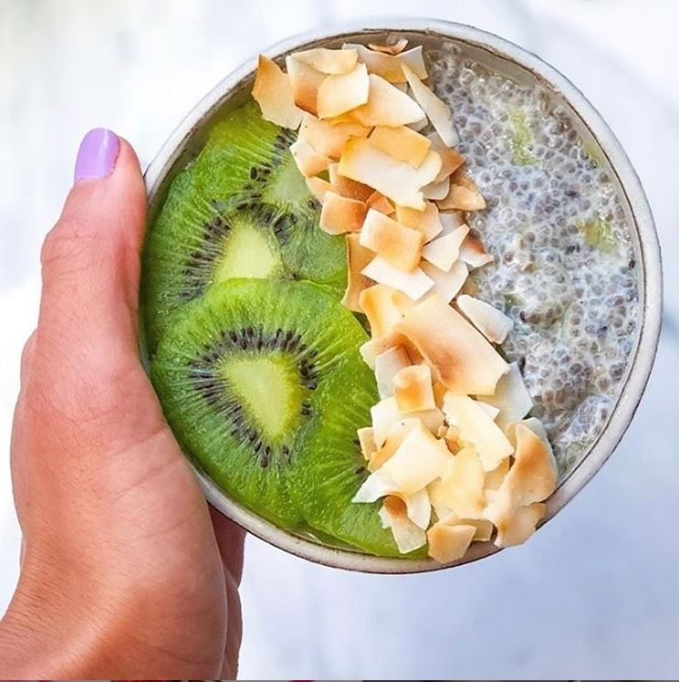 Coconut Kiwi Chia Pudding