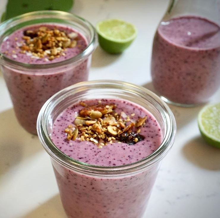 Blueberry, Lime and Lemongrass Smoothie