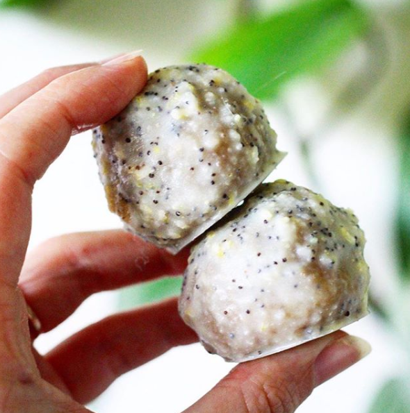 Glazed Lemon Poppyseed Donut Holes