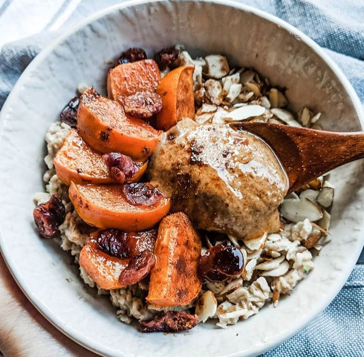 Persimmons & Cranberry Oatmeal