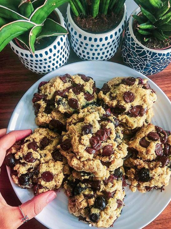 Chocolate Chip Blueberry Tahini Cookies