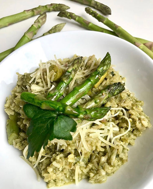 Asparagus Sticky Brown Rice