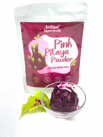 Blueberry Pink Pitaya Ice Cream