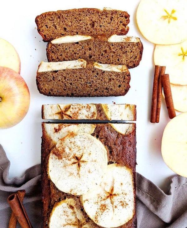 Paleo Honey Cake Topped with Apples