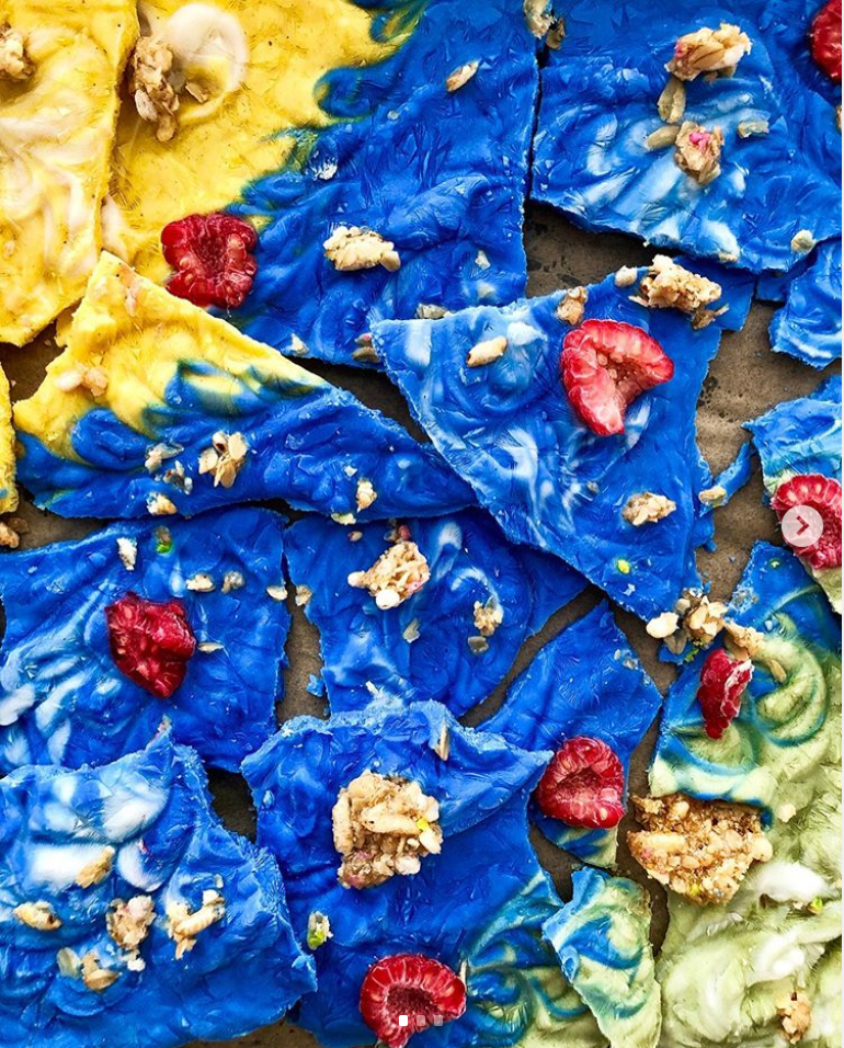 Rainbow Yogurt Bark