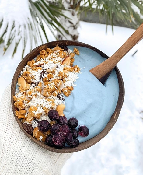 Ice Blue Smoothie Bowl