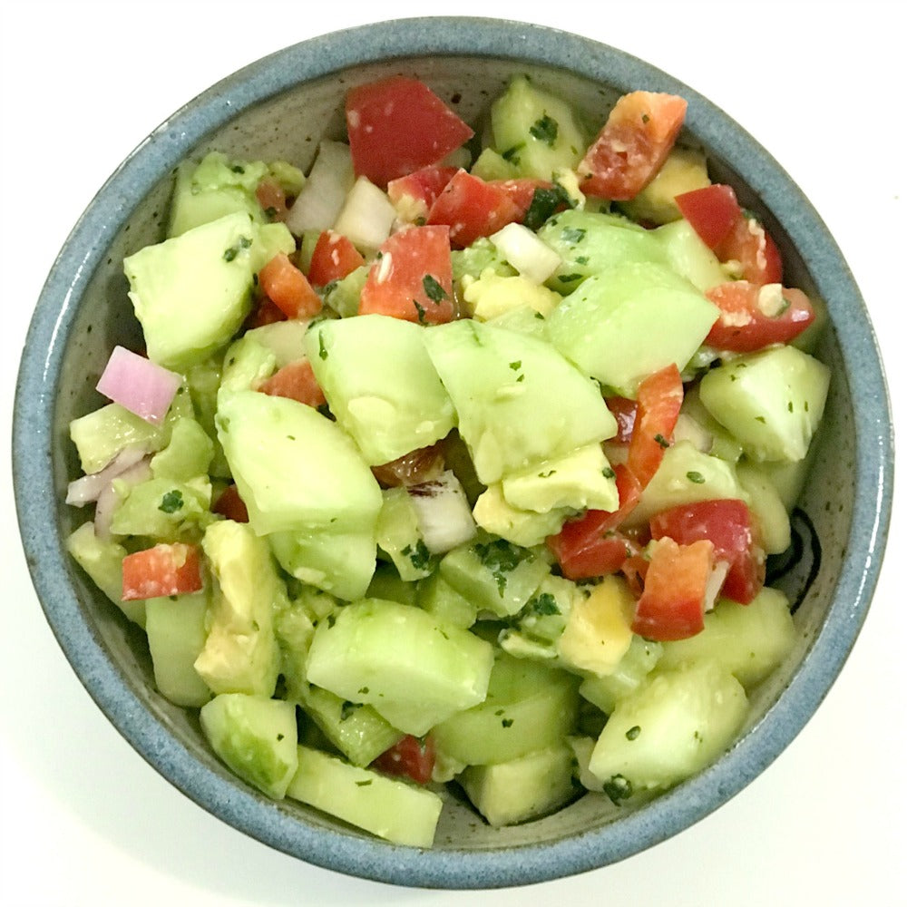 Fresh & Tangy Cucumber Avocado Salad