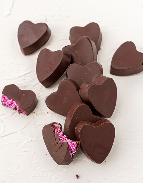 Vegan Chocolate Coconut Hearts