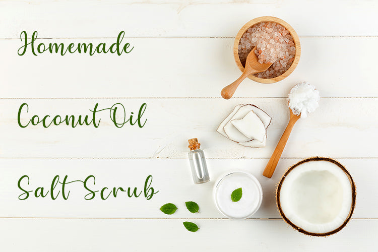 Homemade Coconut Oil Salt Scrub