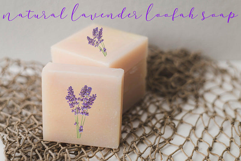 Natural Lavender Loofah Soap