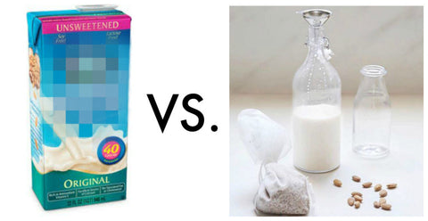 Homemade Nut Milk VS. Boxed Nut Milk