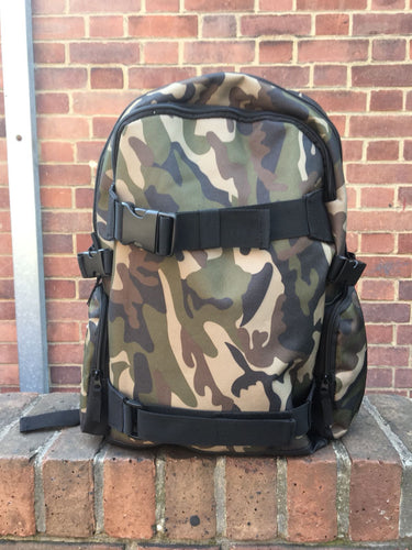 The Hated TH Camo board carrier backpack