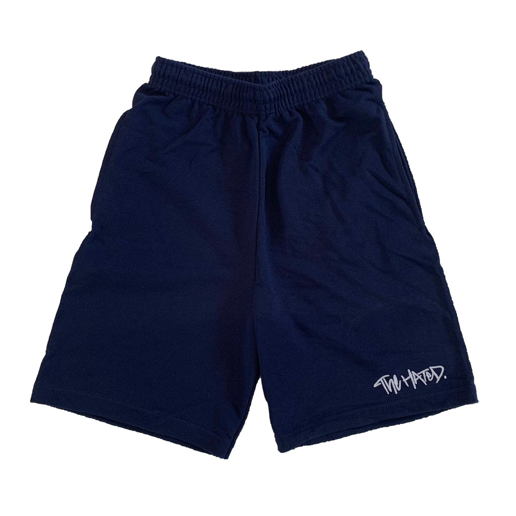 The Hated box logo light and breezy shorts - navy