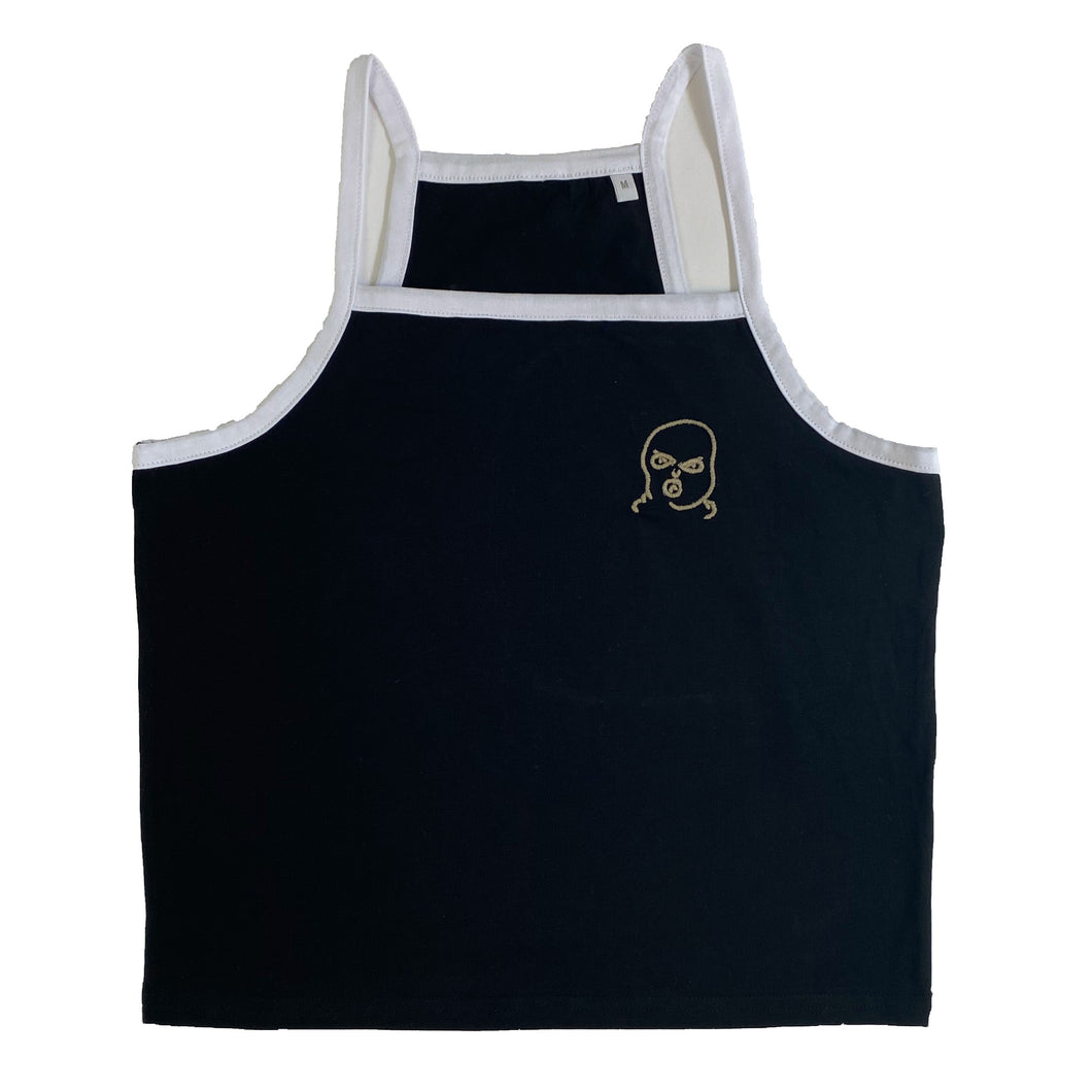 The Hated bally logo strappy vest - black/off gum - The Hated Skateboards