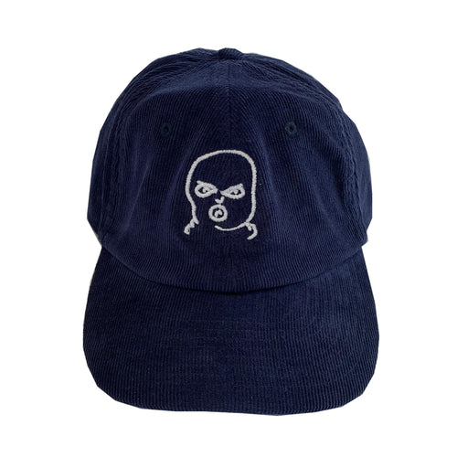 The Hated bally logo cord cap - oxford navy/white - The Hated Skateboards