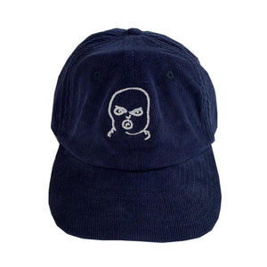 The Hated bally logo cord cap - oxford navy/white