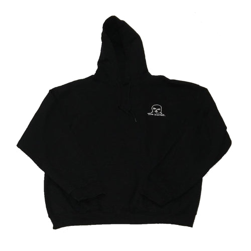 The Hated embroidered bally logo hoody black white - The Hated Skateboards