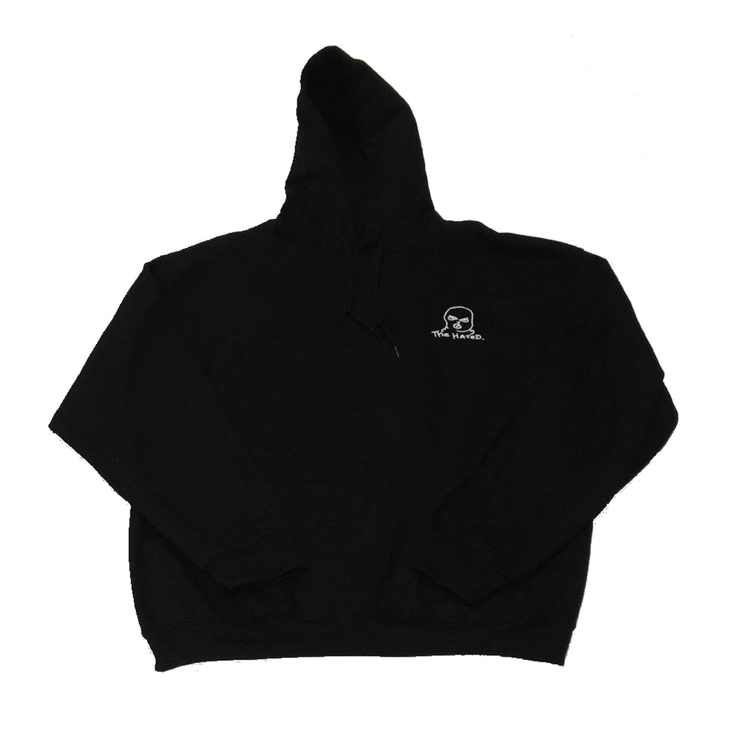 The Hated embroidered bally logo hoody black white