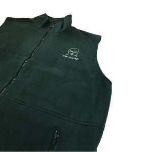 The Hated body warmer fleece - forest green/white