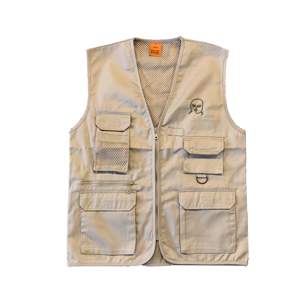 The Hated bally logo grafters vest - camel/brown