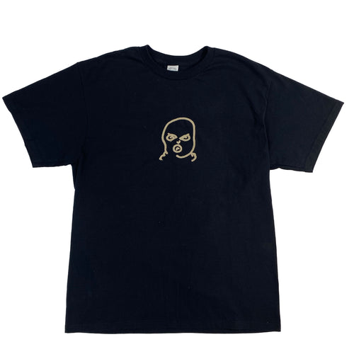 The Hated big bally logo embroidered T-Shirt - black/off gum - The Hated Skateboards