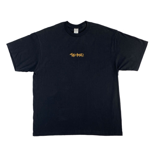 The Hated box logo T-Shirt - black/off gold - The Hated Skateboards