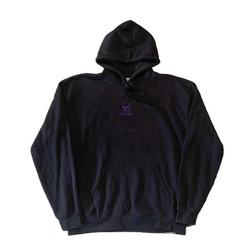 2XL The Hated embroidered bally logo hoody - black/purple first edition - The Hated Skateboards