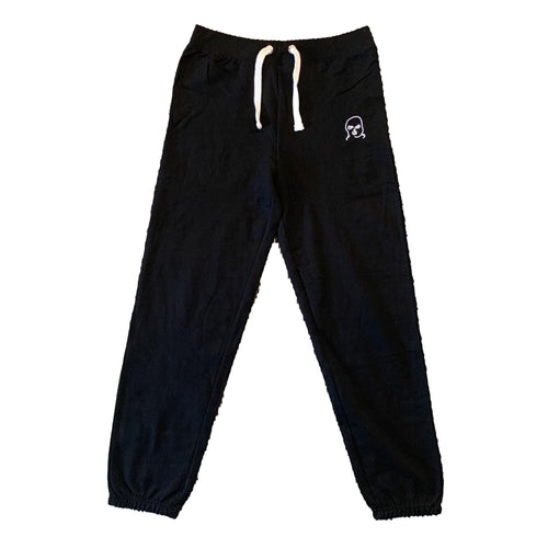 The Hated womens bally logo cuffed tracksuit bottoms - black - The Hated Skateboards