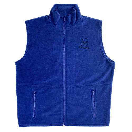 The Hated body warmer fleece - royal blue/navy